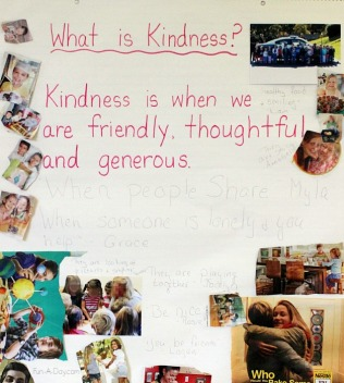 kindness activity later in February
